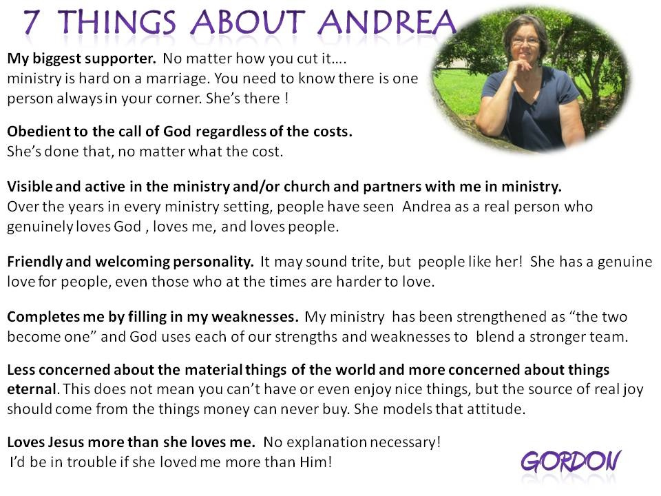 7 things about Andrea