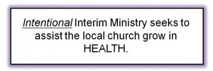 Intentional Ministry seeks to help a church become healthy
